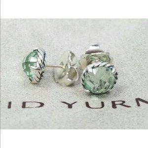 David Y 8mm Prasiliote Earrings